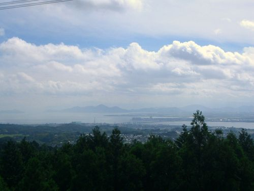 比叡山から琵琶湖大橋を眺めると・・・・