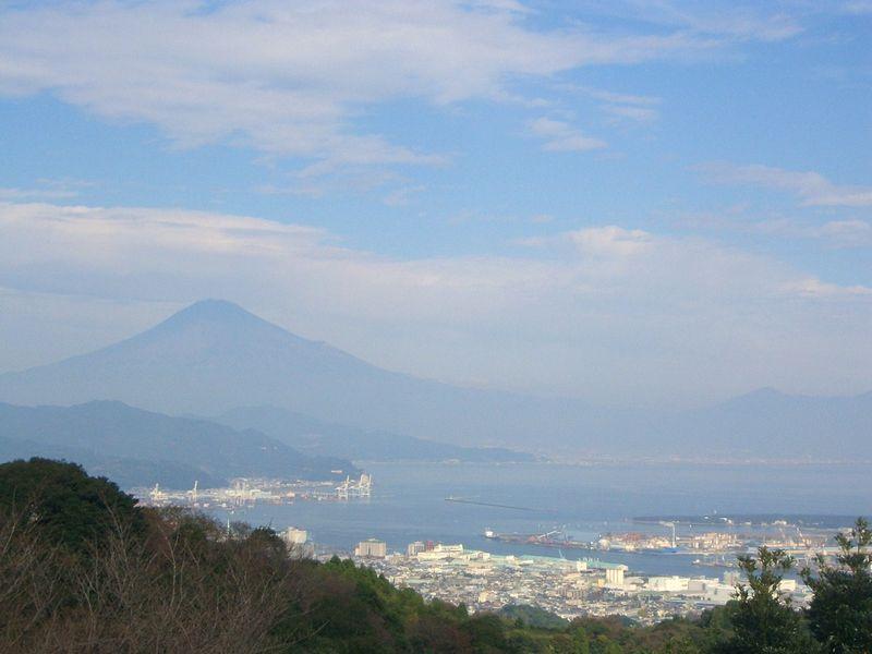 清水港、そして霊峰富士