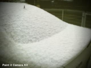 急にやって来て、さっさと消えてしまう『雪』・・・笑!!!