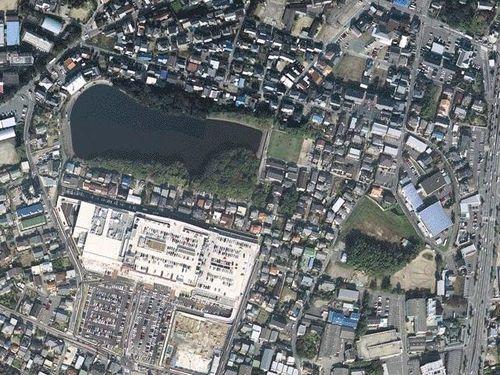 岡崎競馬場(航空写真による現在)