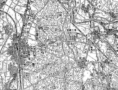 岡崎競馬場(昭和29年・地理調査所)