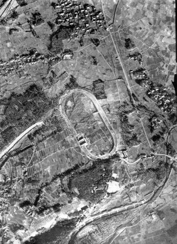 養老競馬場(米国陸軍空中写真)