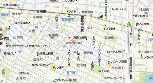 豊橋競馬場の現在(ヤフー地図より)